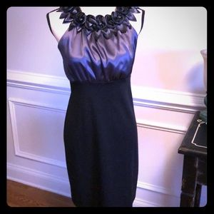 Gorgeous black and charcoal gray dress.